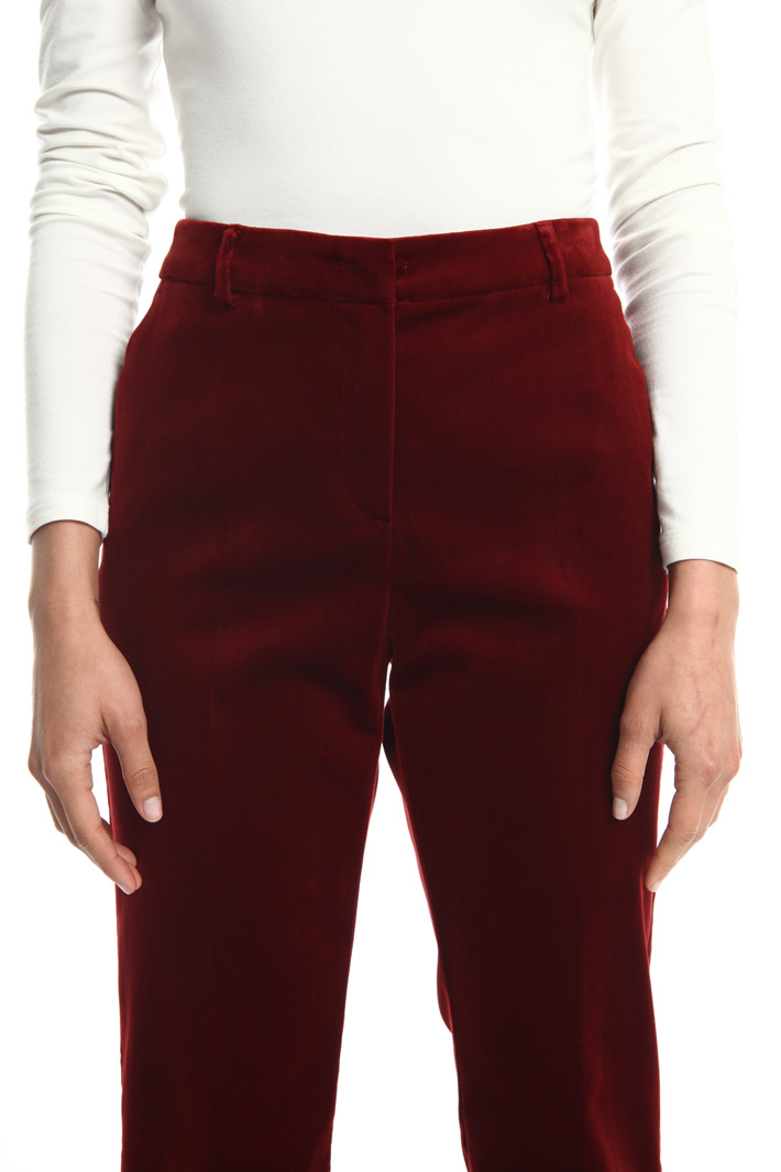 Smooth velvet trousers Intrend