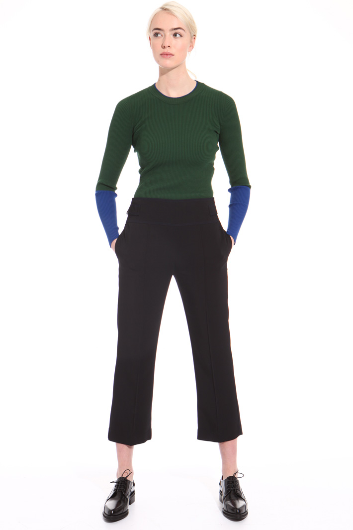 Cropped high waisted trousers Intrend