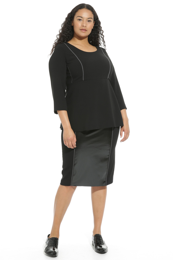Triacetate peplum tunic Intrend