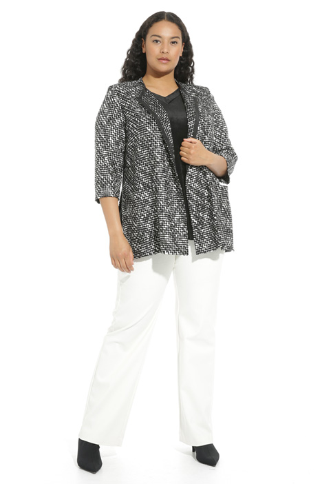 Two-tone woven tunic Intrend