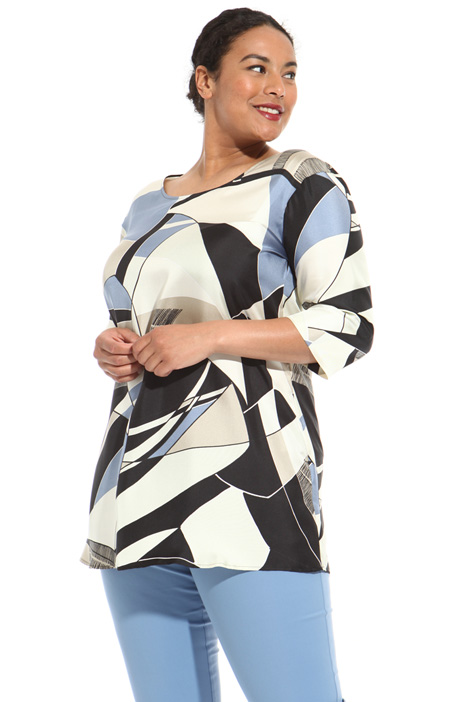 Silk twill tunic Intrend