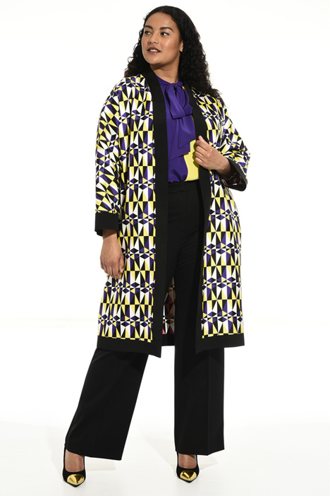 Silk reversible duster coat Intrend