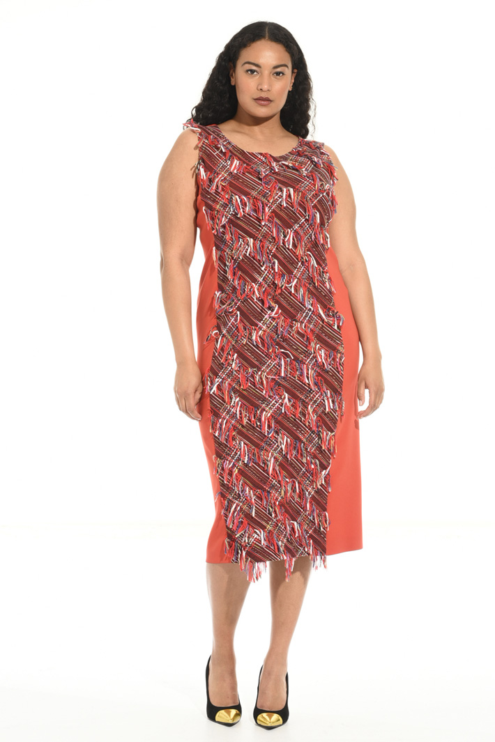 Fringed woven dress Intrend