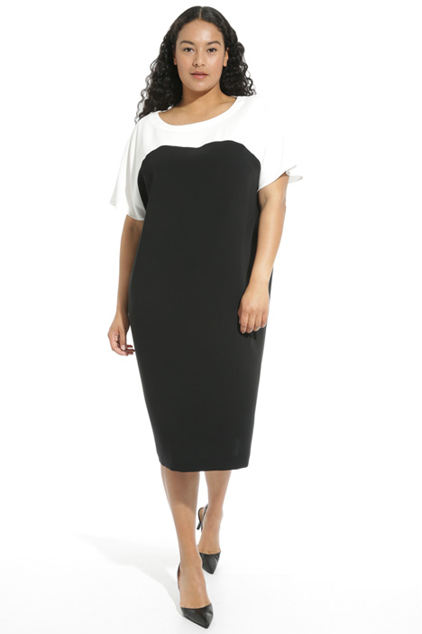 Two-tone triacetate dress Intrend