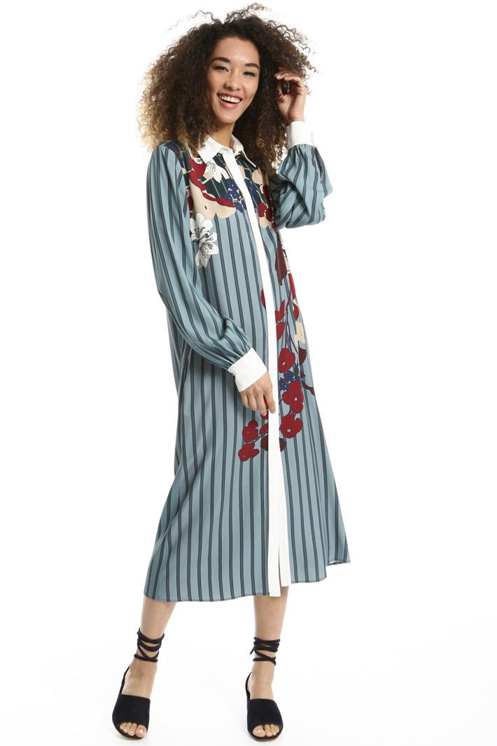 Knee-length chemisier dress Intrend