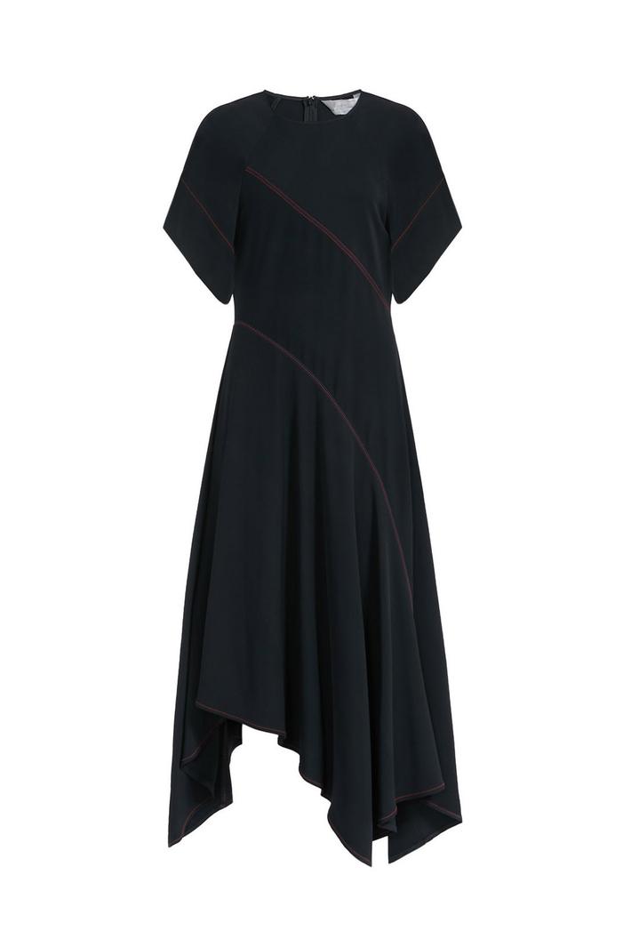 Contrast stitch dress Intrend