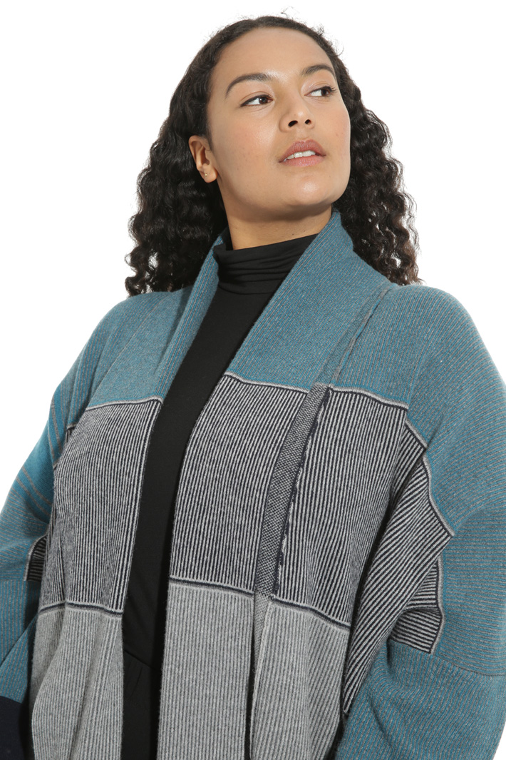 Jacquard wool coat Intrend