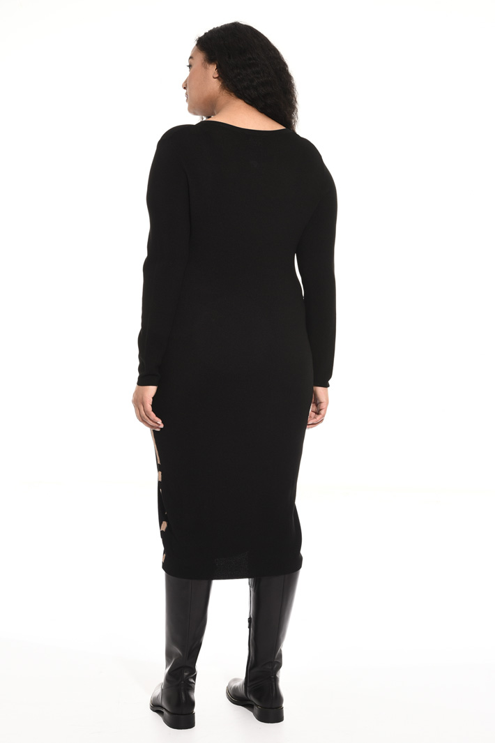 Crepe knit dress Intrend