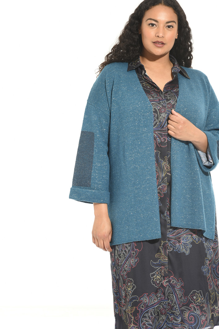 Cardigan in alpaca e lurex Intrend