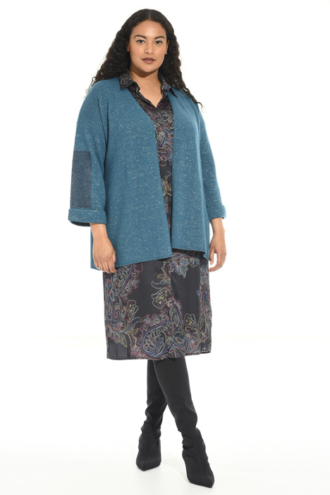 Alpaca and lurex cardigan Intrend