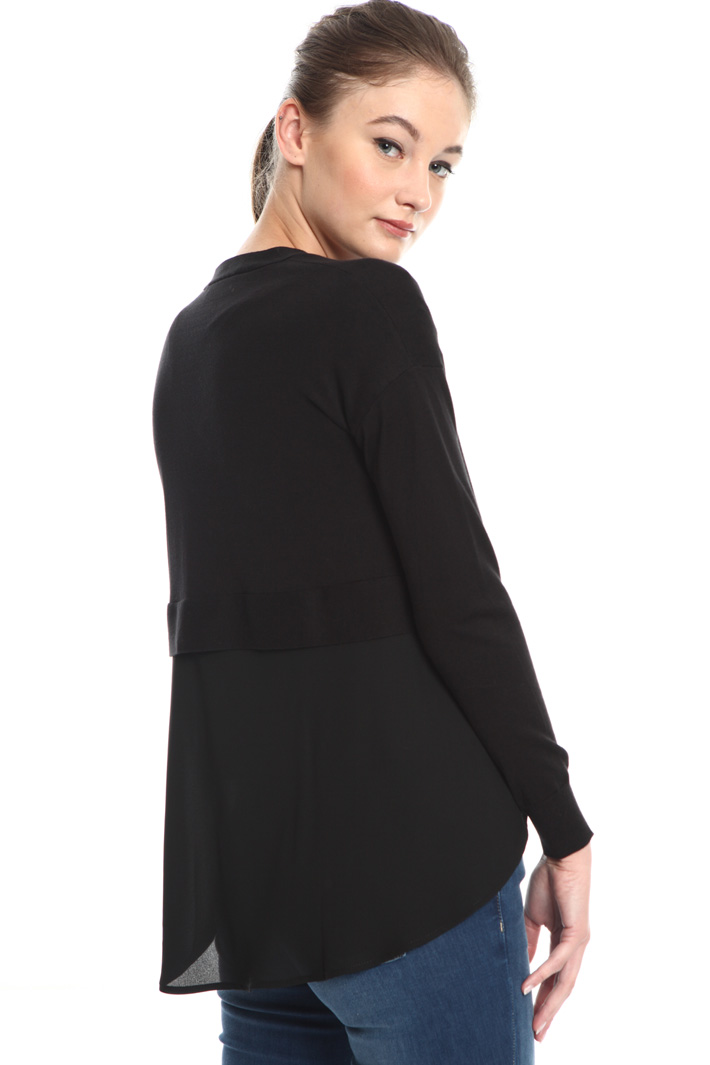 Cardigan with crepe insert Intrend