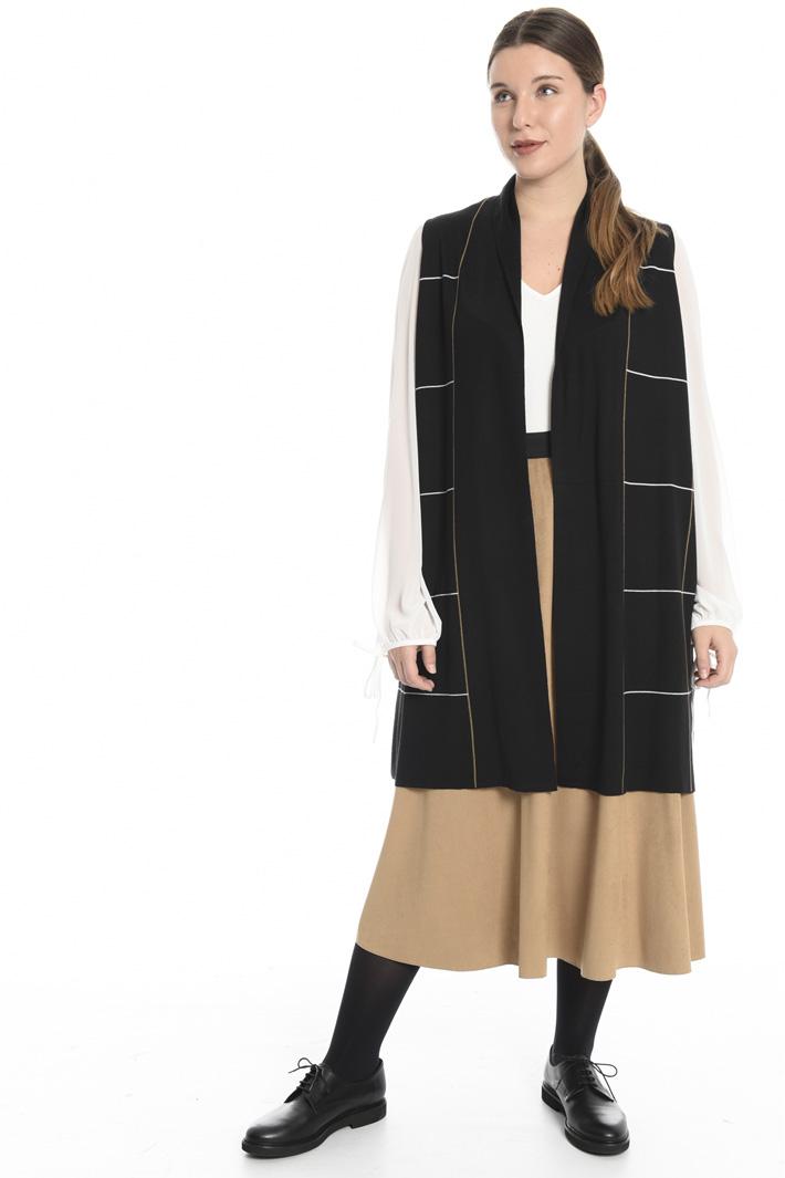 Wool blend jacquard vest Intrend