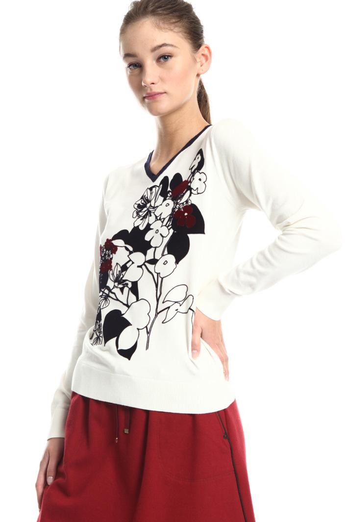 Flock print sweater Intrend