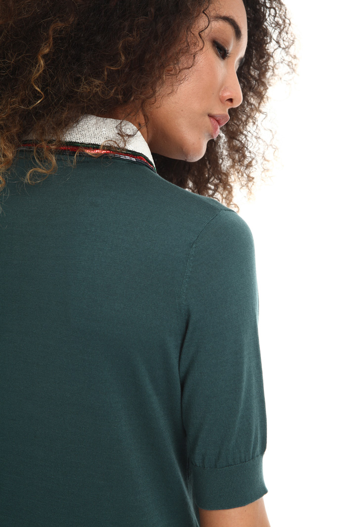 Embroidered collar sweater Intrend