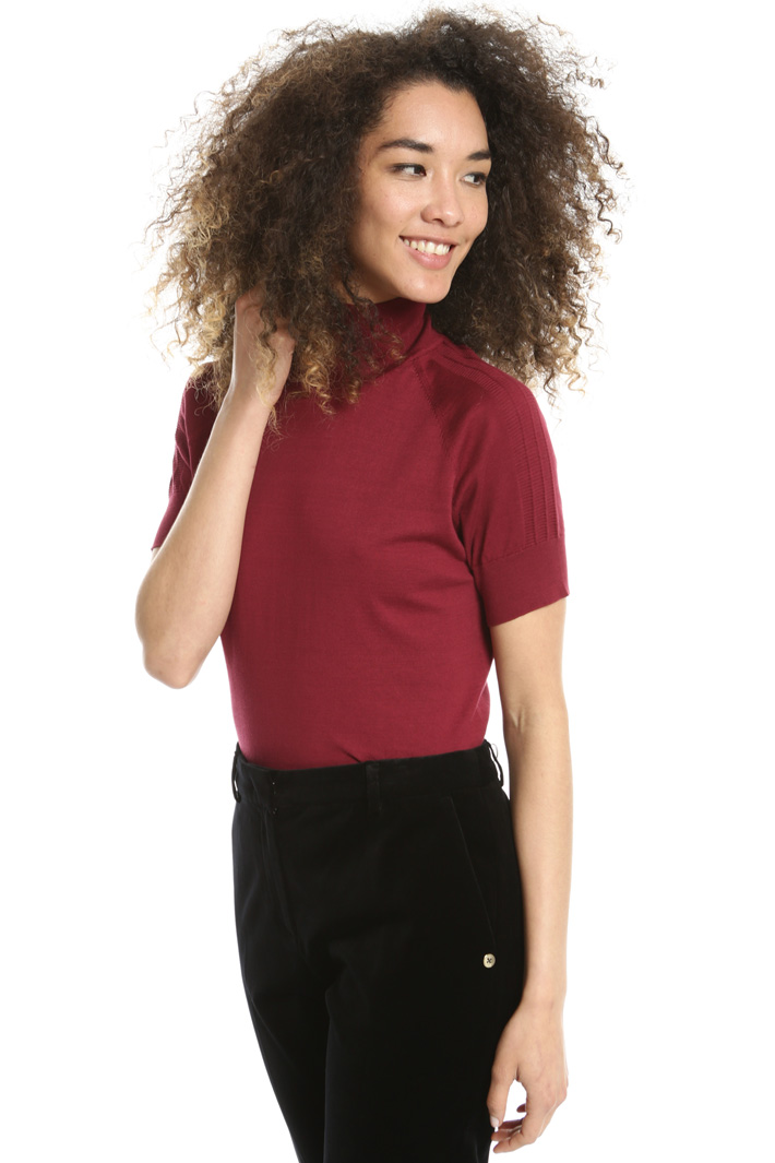 Short sleeve turtleneck top Intrend