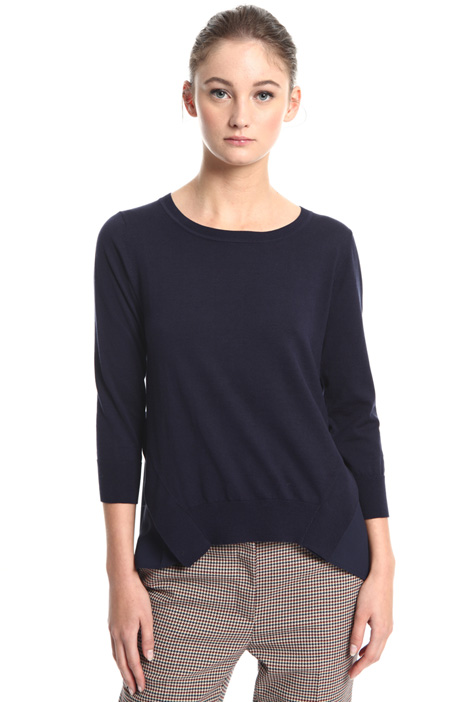 Sweater with crepe insert Intrend
