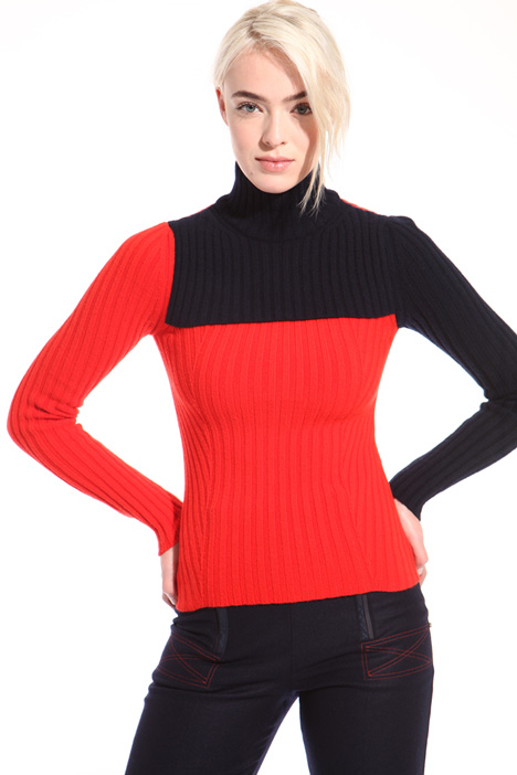 Ribbed cashmere turtleneck Intrend