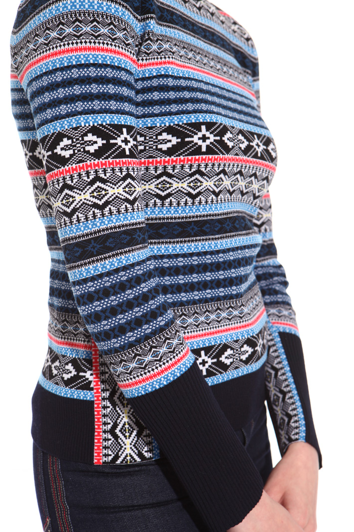Geometric pattern sweater Intrend