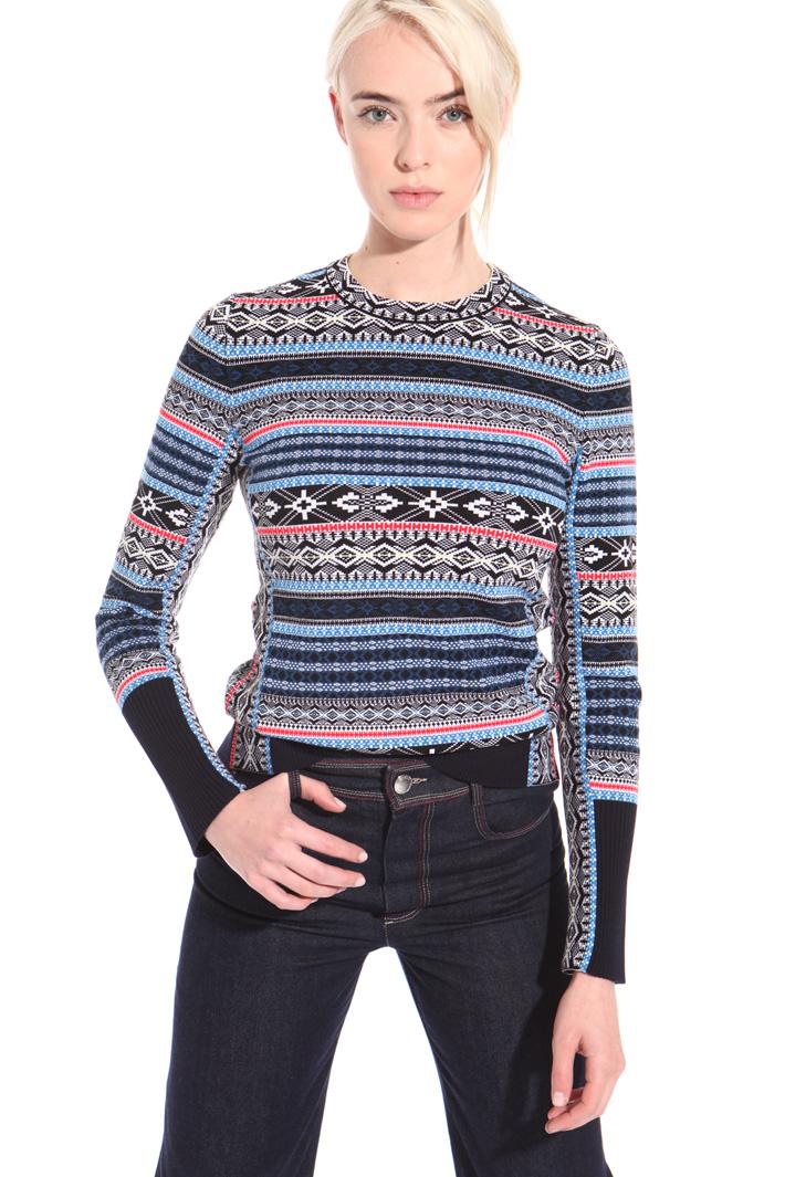 Geometric pattern sweater Intrend
