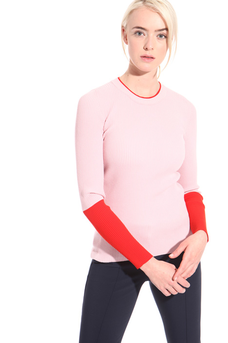Ribbed crew neck sweater Intrend
