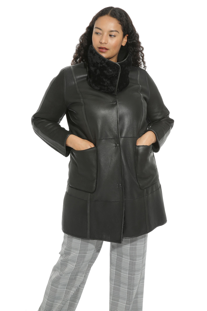 Reversible sheepskin jacket Intrend