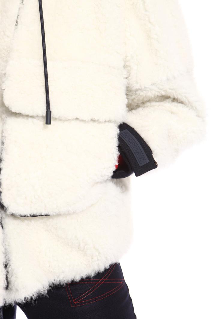 Hooded sheepskin bomber jacket Intrend
