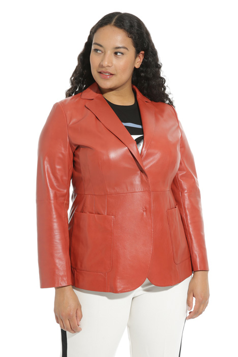 Leather blazer jacket Intrend