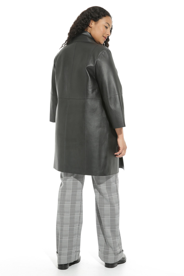 Nappa leather duster coat Intrend