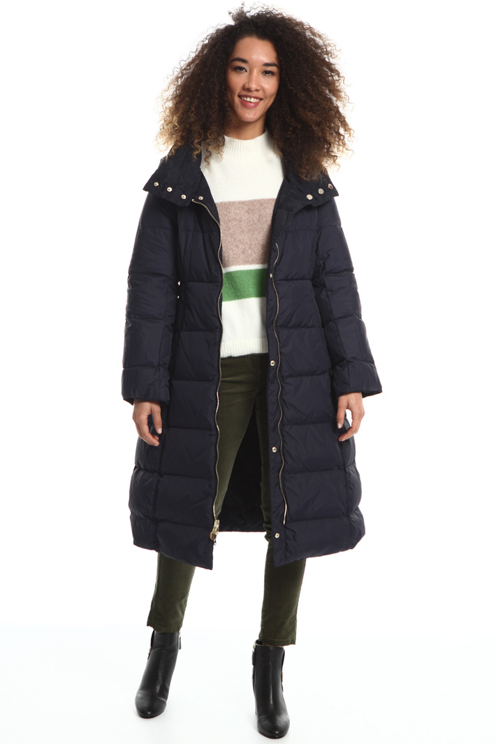 Embroidered reversible coat Intrend
