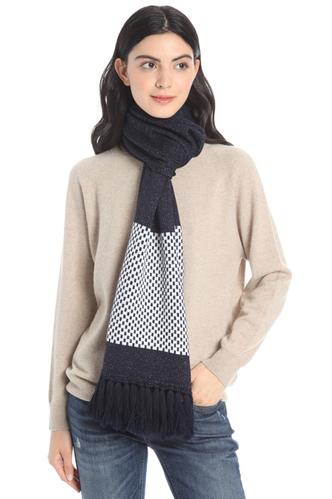 Lurex knit scarf Intrend
