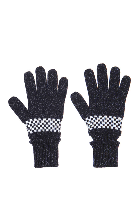 Lurex wool gloves Intrend