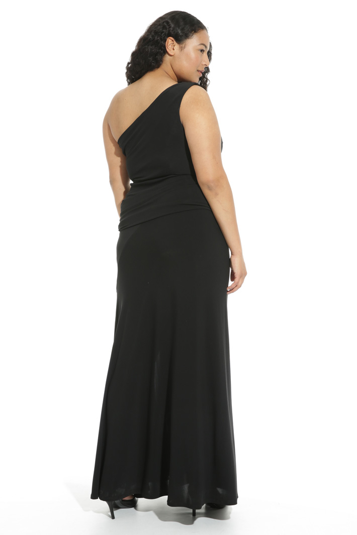 One-shoulder jersey dress Intrend