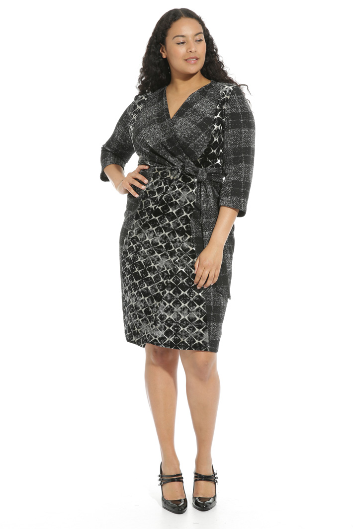 Jacquard jersey dress Intrend