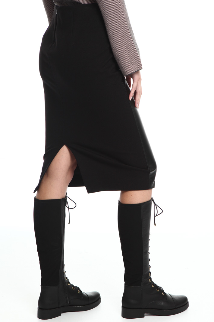 Coated jersey skirt Intrend