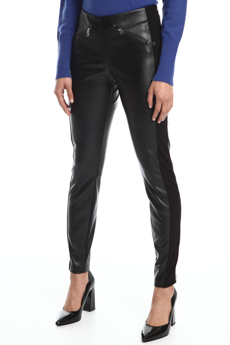High-waisted coated leggings Intrend