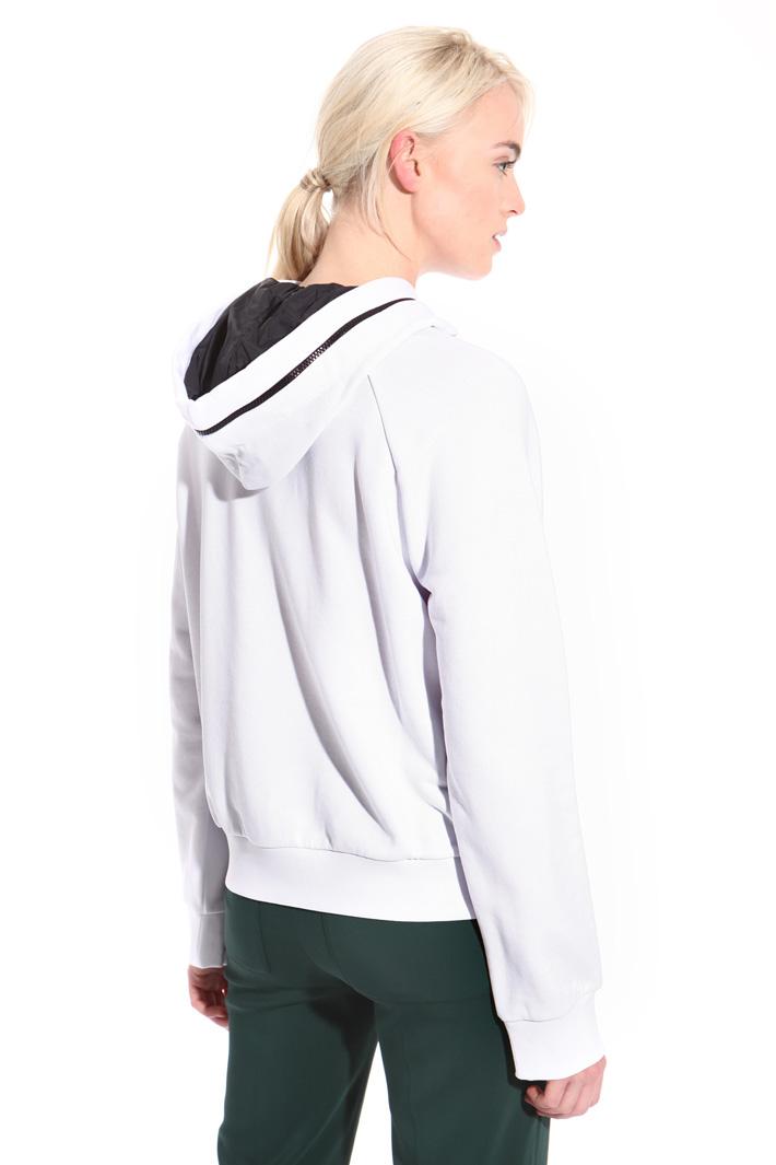 Cotton sweatshirt with zip  Intrend