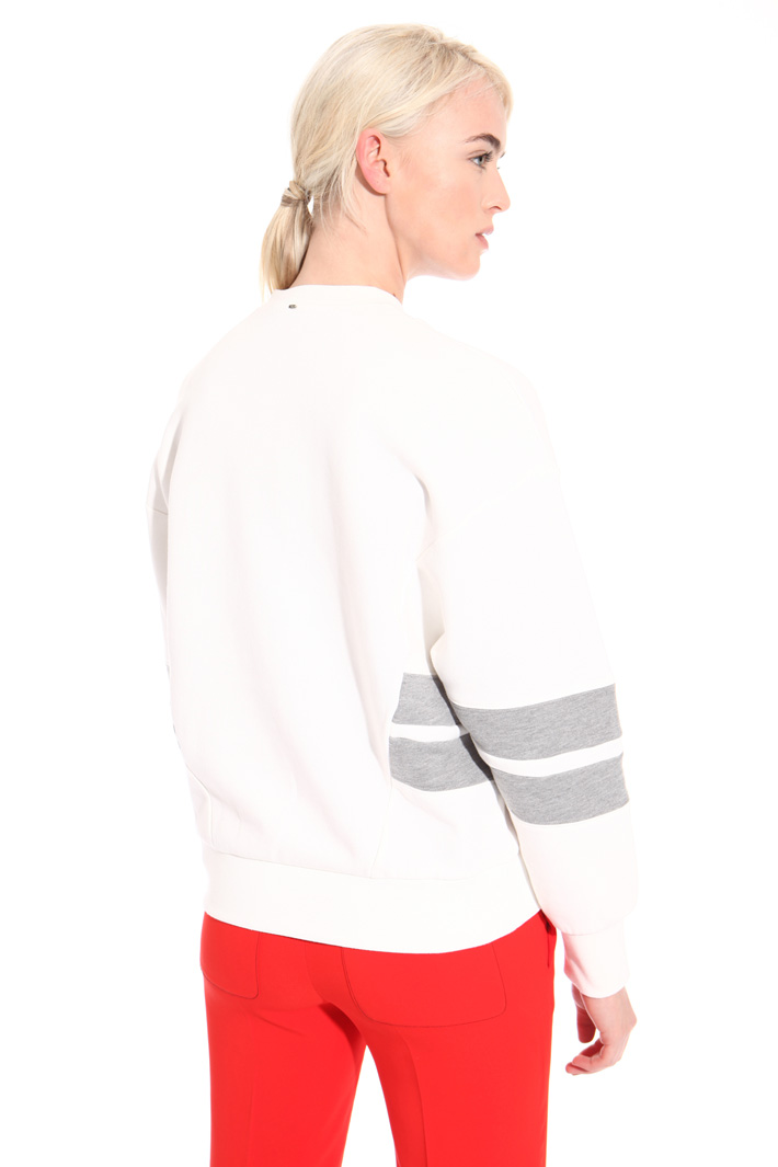 Sweatshirt with inserts Intrend