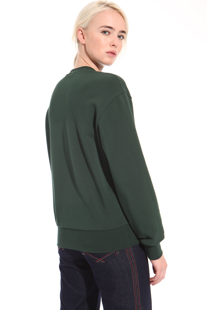 Printed cotton sweatshirt Intrend