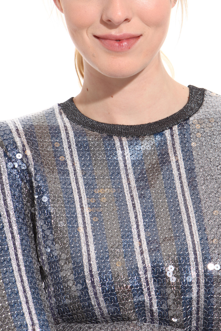 Sequin lurex sweater Intrend