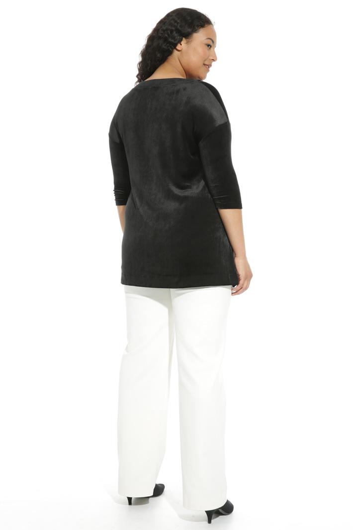 Jersey velvet T-shirt Intrend