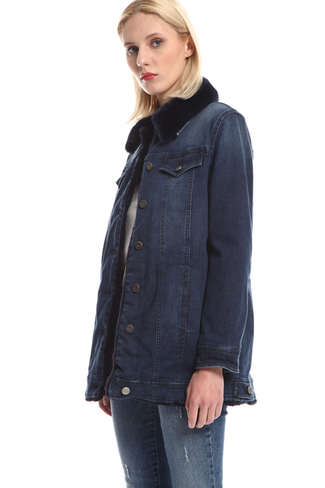 Giacca in denim con colletto Intrend