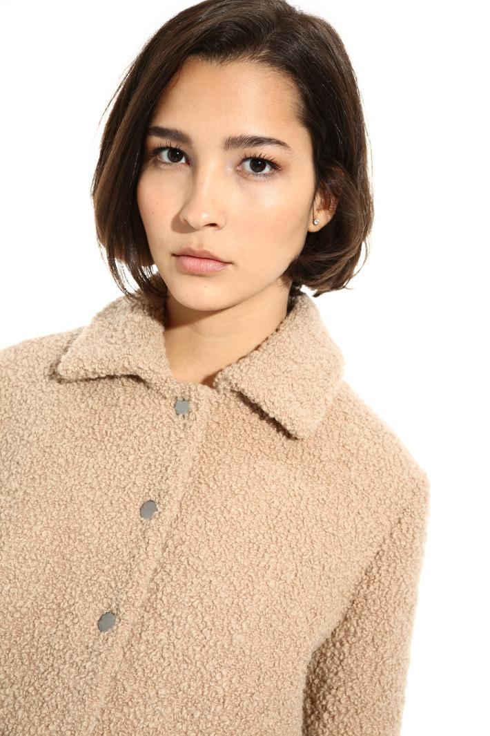 Bouclé wool bomber jacket Intrend