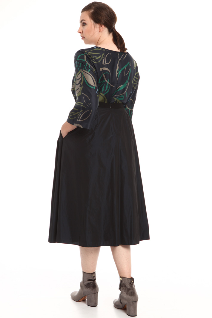 Technical taffeta skirt  Intrend