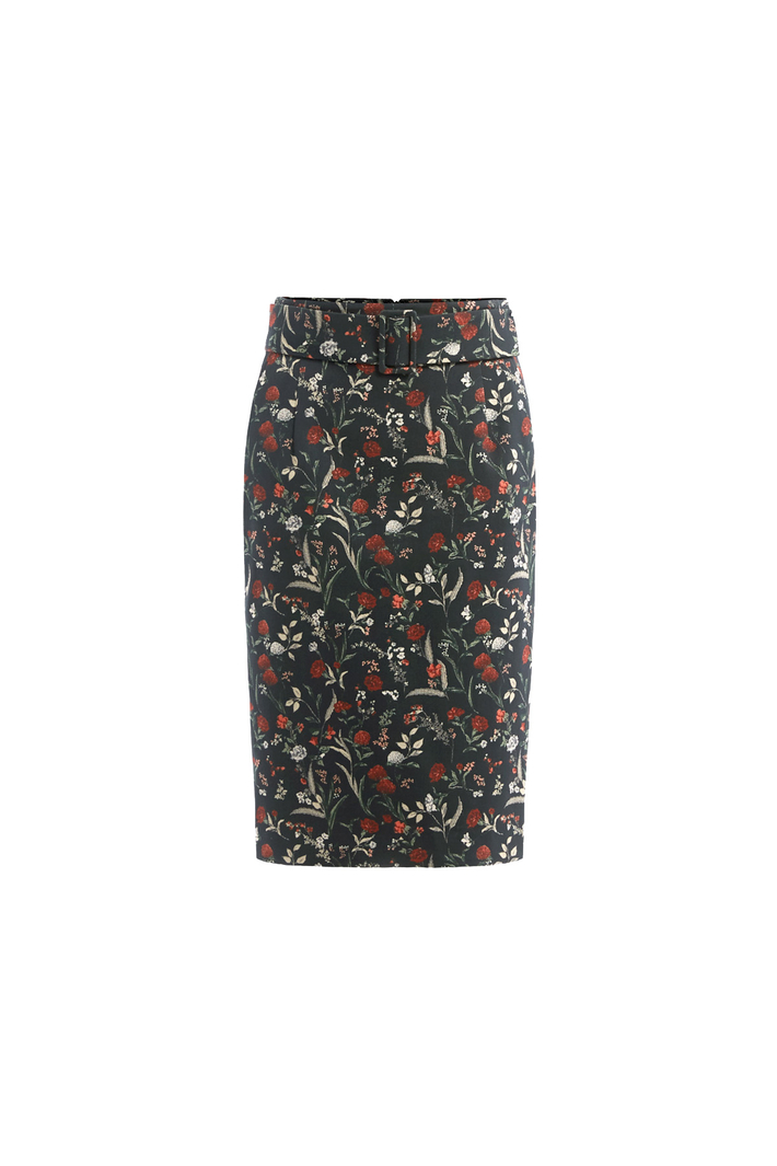 Jacquard sheath skirt Intrend