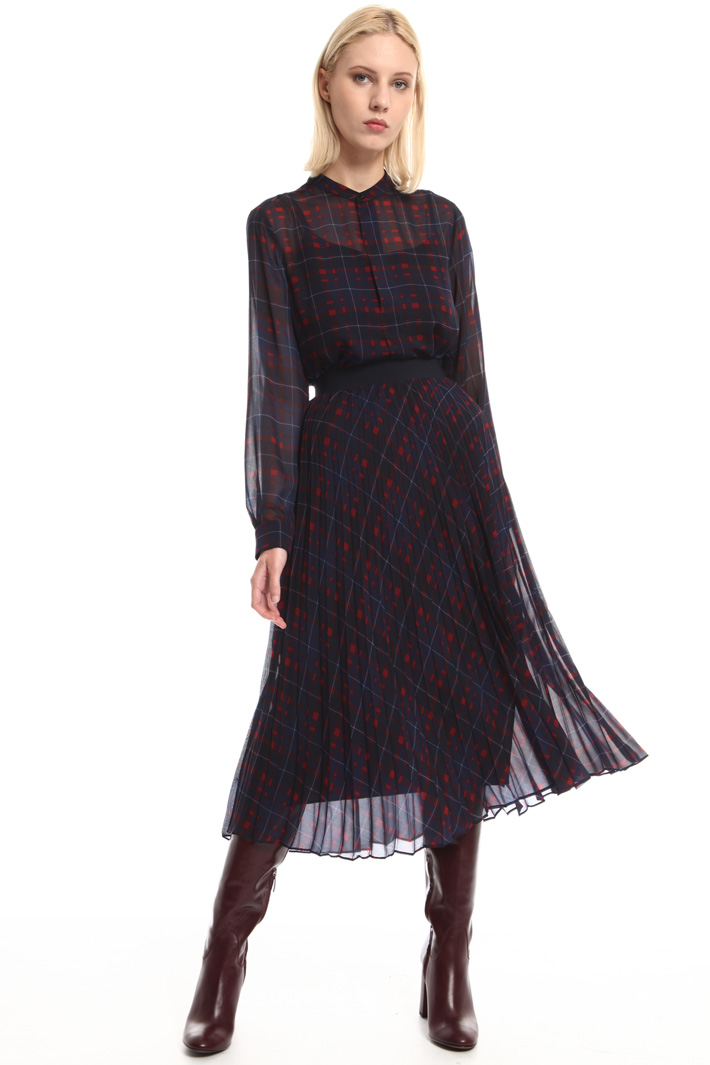 Printed pleated skirt Intrend