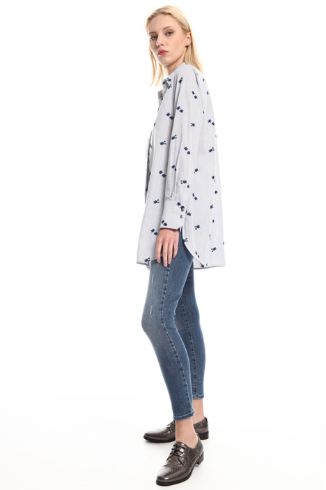 Flared embroidered shirt Intrend