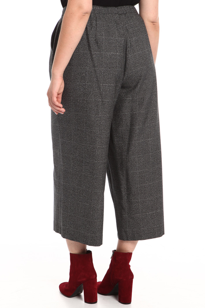 Cropped check trousers Intrend