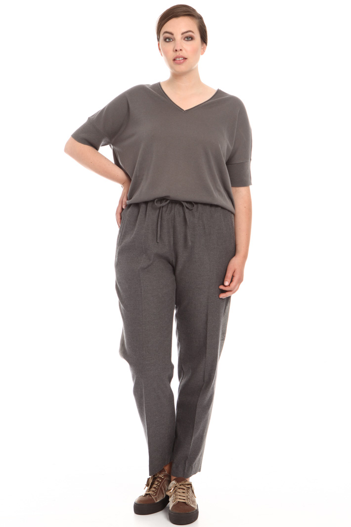 Wool jogging-style trousers Intrend