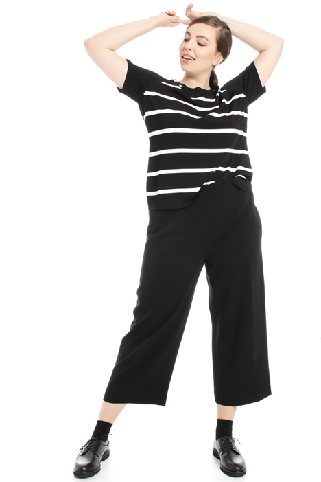 Cropped triacetate trousers Intrend