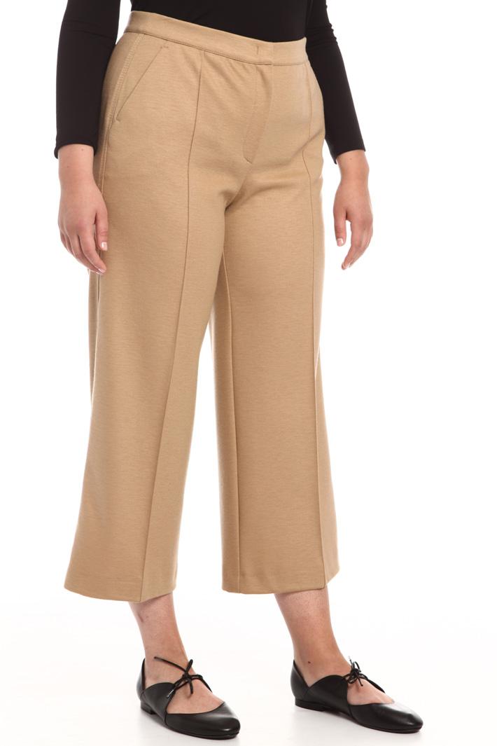 Pantalone in jersey di lana Intrend